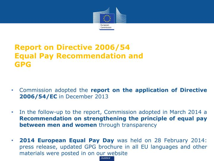 Report on Directive 2006/54