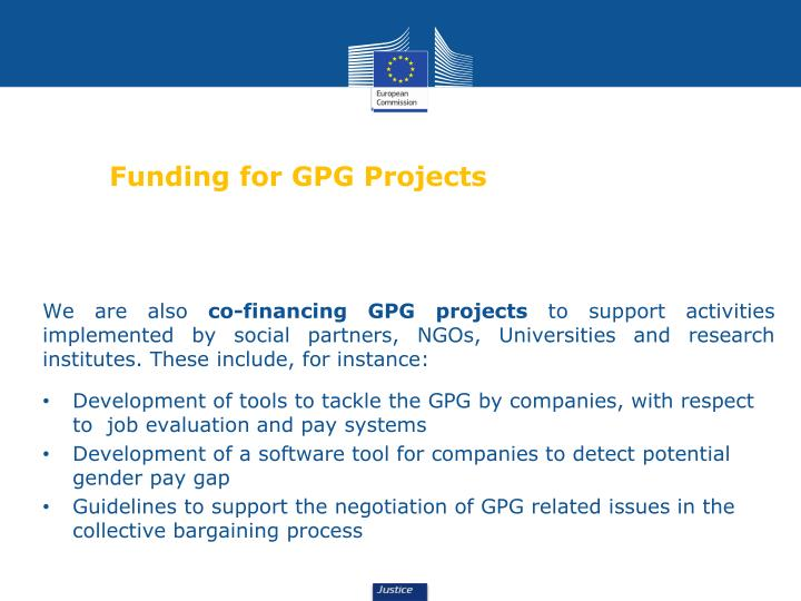 Funding for GPG Projects