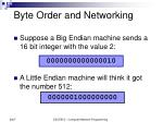 byte order and networking