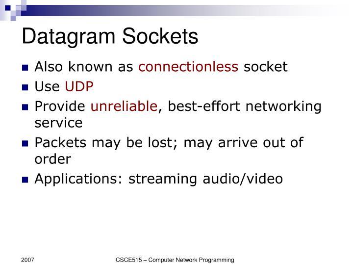 Datagram Sockets