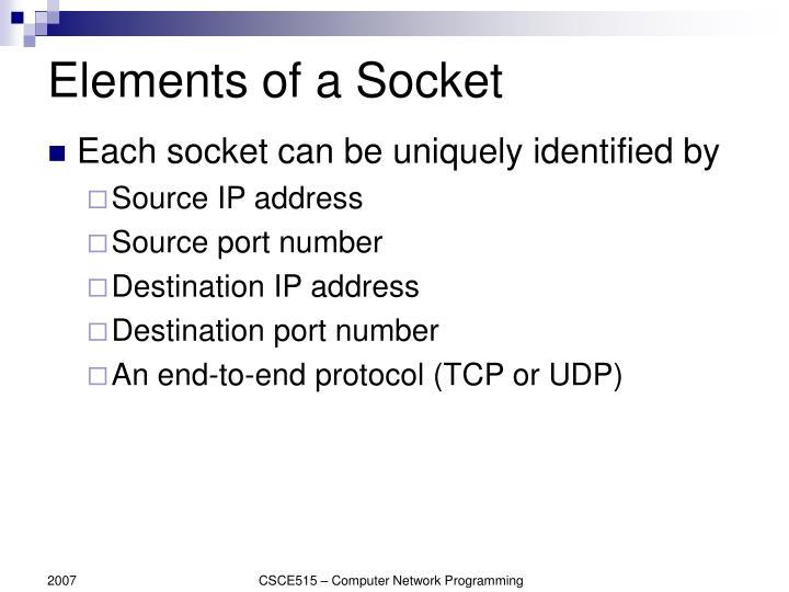 Elements of a Socket