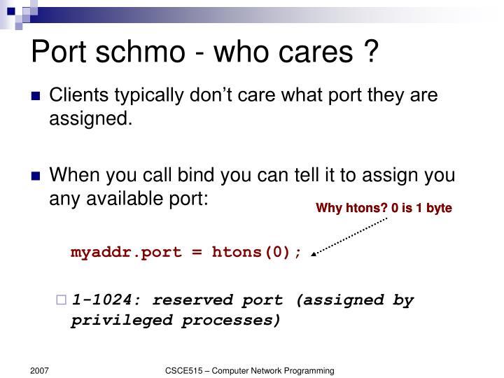 Port schmo - who cares ?