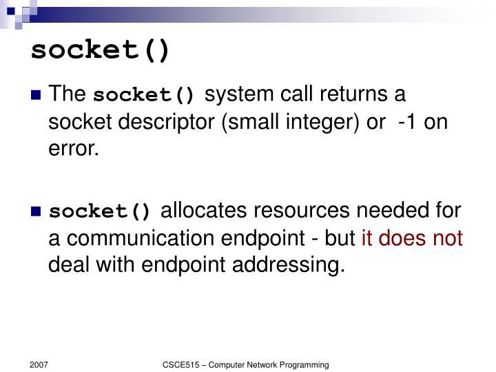 socket()