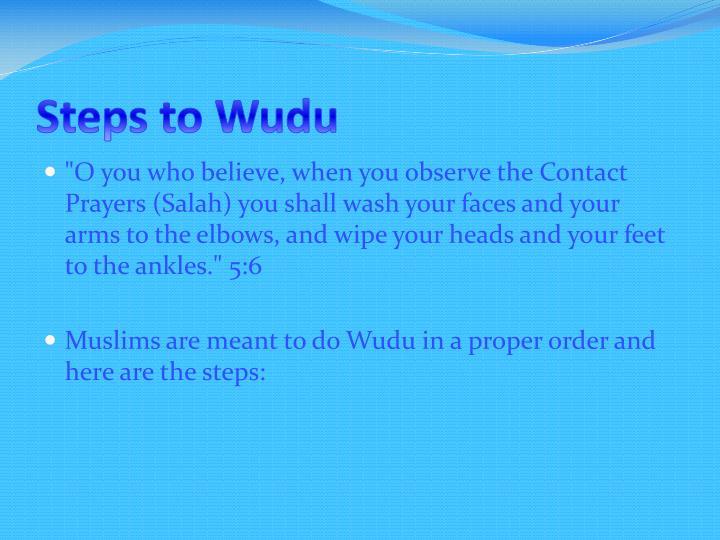 Steps to Wudu