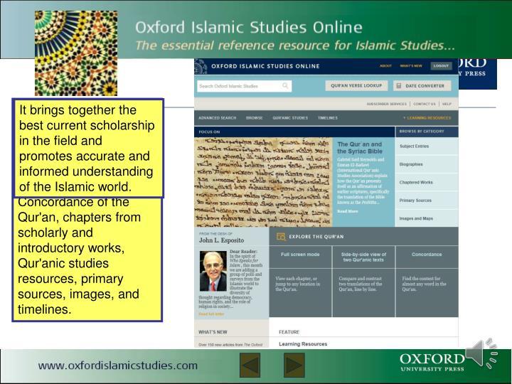 Oxford Islamic Studies Online