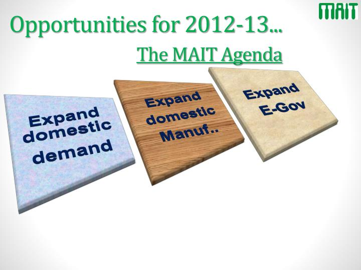 Opportunities for 2012-13...