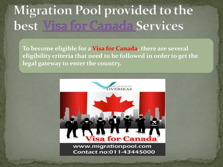Migration Pool provided to the best