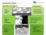 corrosion tests