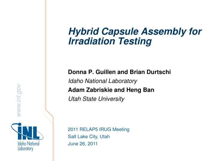 hybrid capsule assembly for irradiation testing