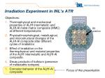 irradiation experiment in inl s atr