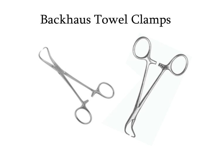 Backhaus Towel Clamps