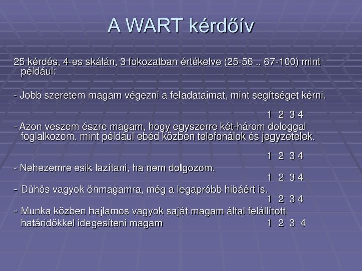 A WART kérdőív