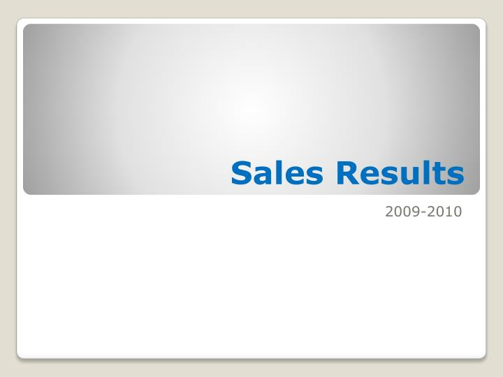 sales results