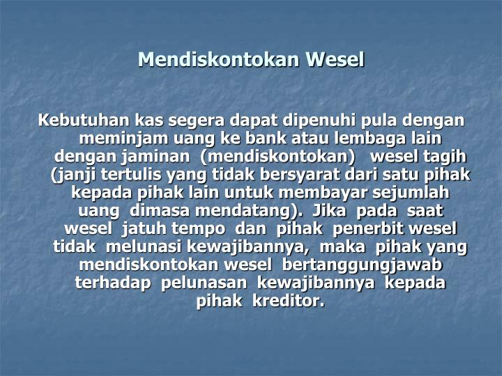 Mendiskontokan Wesel