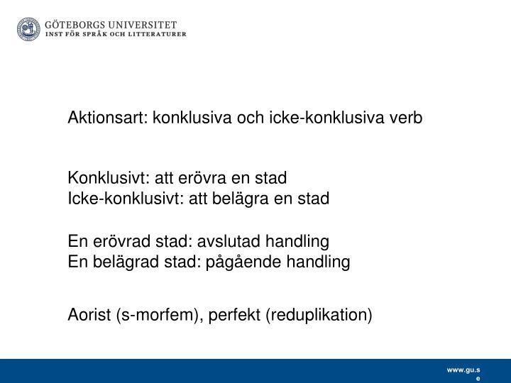 Aktionsart: konklusiva och icke-konklusiva verb