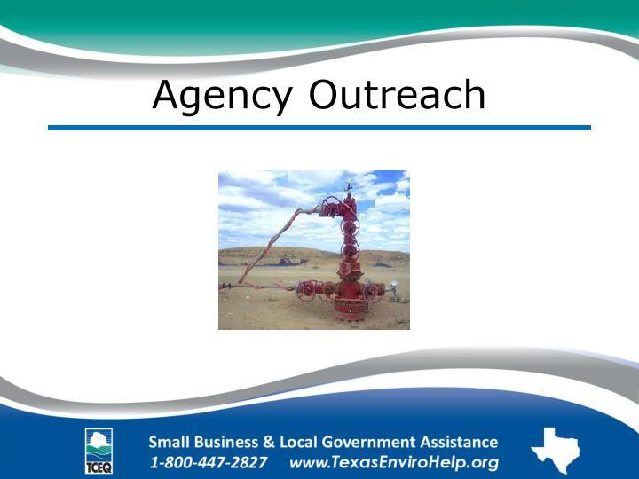 Agency Outreach
