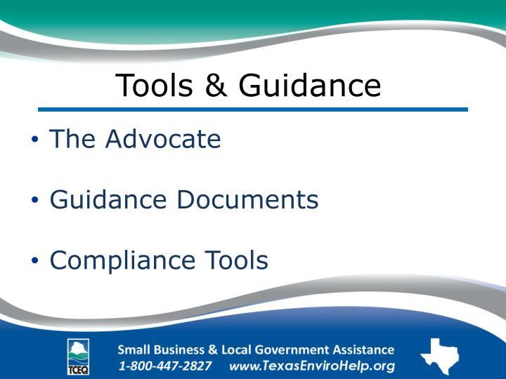 Tools & Guidance