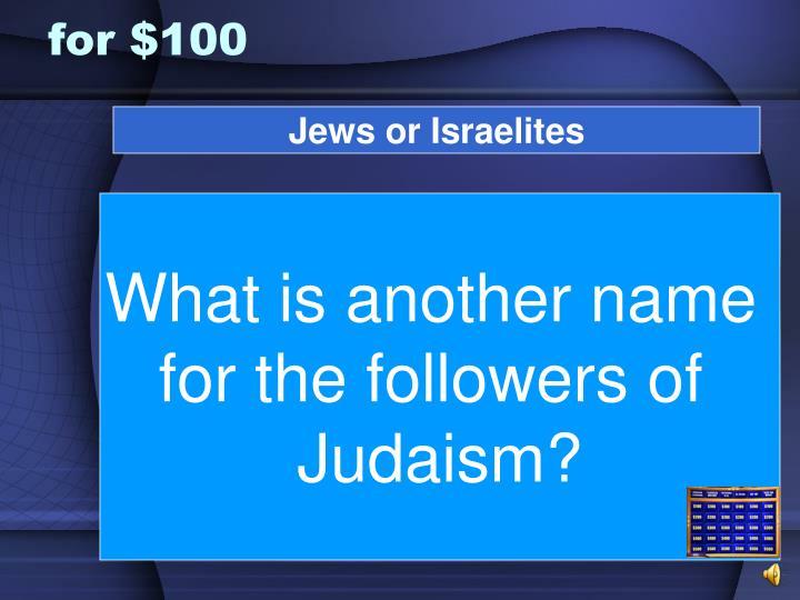 Jews or Israelites