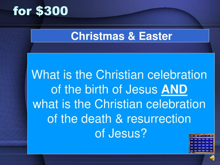 Christmas & Easter