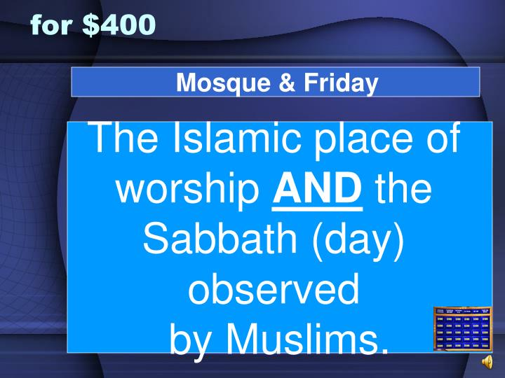 Mosque & Friday