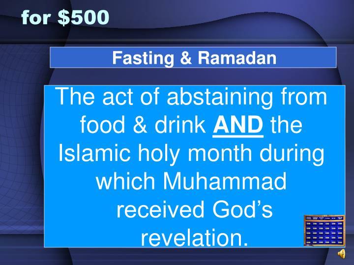 Fasting & Ramadan