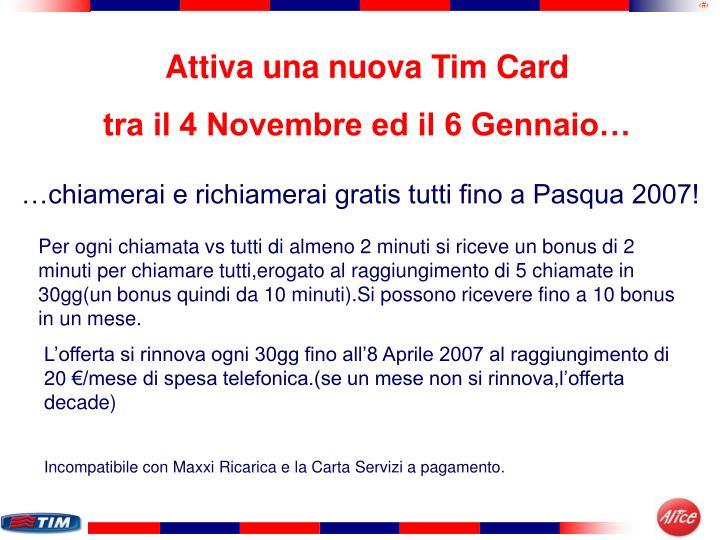 Attiva una nuova Tim Card