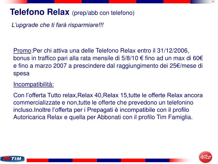 Telefono Relax