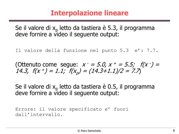 Interpolazione lineare