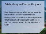 establishing an eternal kingdom1