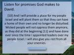 listen for promises god makes to david1