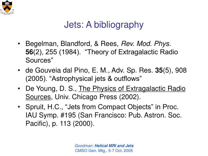 Jets: A bibliography