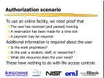 authorization scenario