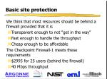 basic site protection