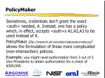 policymaker