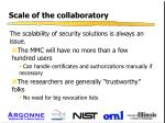 scale of the collaboratory