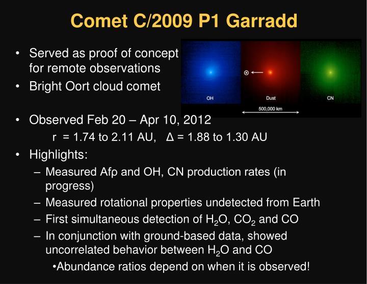 Comet C/2009 P1 Garradd