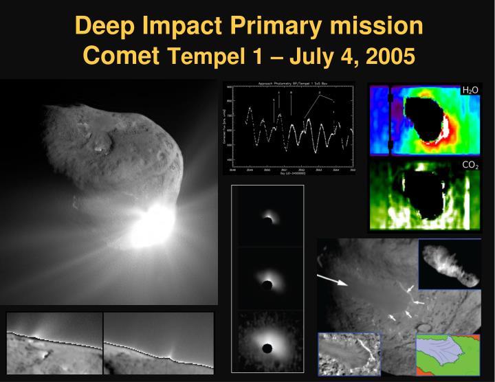 Deep Impact Primary mission