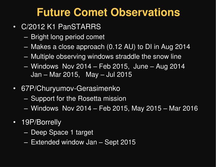 Future Comet Observations