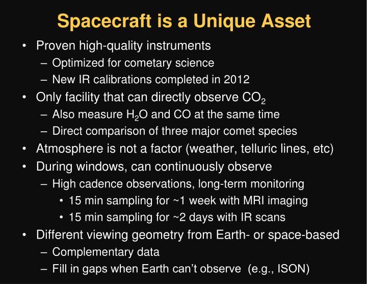 Spacecraft is a Unique Asset
