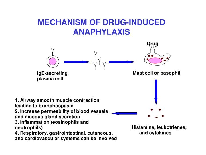 MECHANISM OF DRUG-INDUCED ANAPHYLAXIS