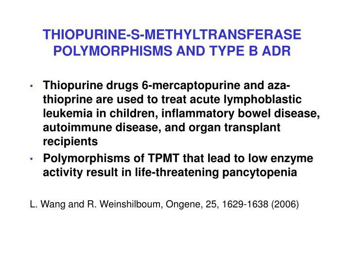 THIOPURINE-S-METHYLTRANSFERASE POLYMORPHISMS AND TYPE B ADR