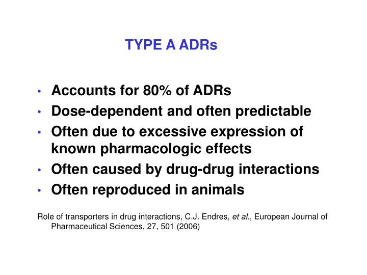 TYPE A ADRs