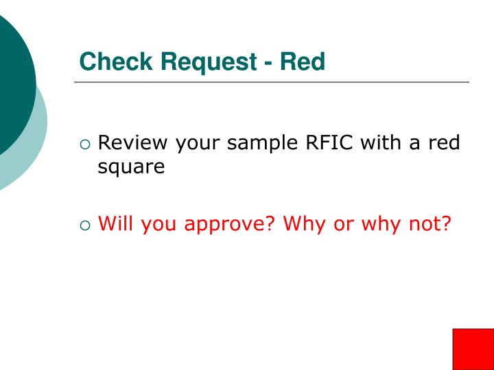 Check Request - Red