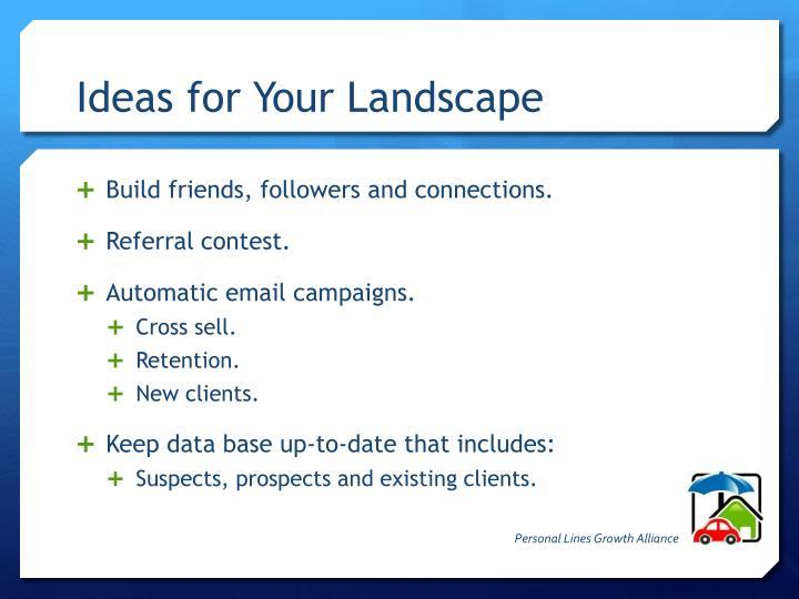 Ideas for Your Landscape