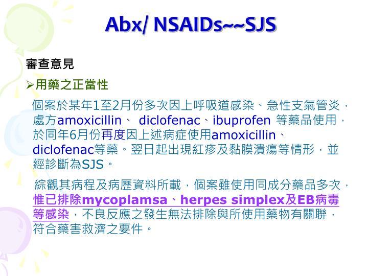 Abx/ NSAIDs~~SJS