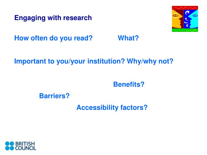 Engaging with research