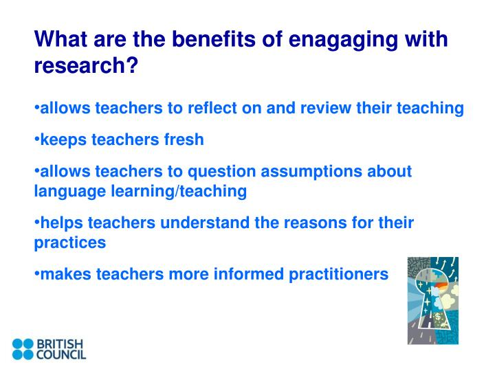 What are the benefits of enagaging with research?
