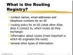 what is the routing registry2