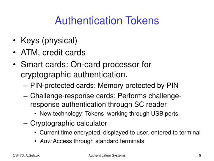 Authentication Tokens
