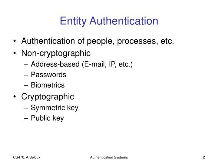 Entity Authentication